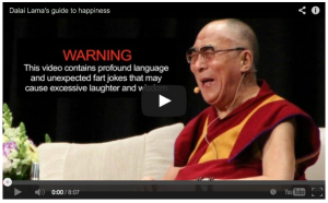 Beautiful Wisdom & Fart Jokes from the Dalai Lama